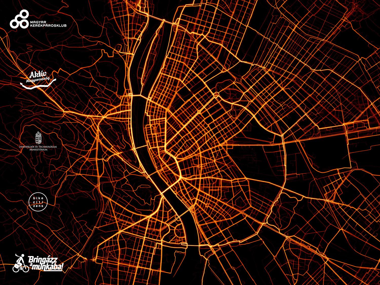 Budapest, Debrecen és Székesfehérvár legbiciklisebb útvonalai a Bringázz a Munkába kampányban