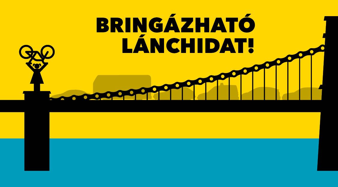 Bringázható Lánchidat!  - Biciklis felvonulás és aláírásgyűjtés az átjárható Lánchídért