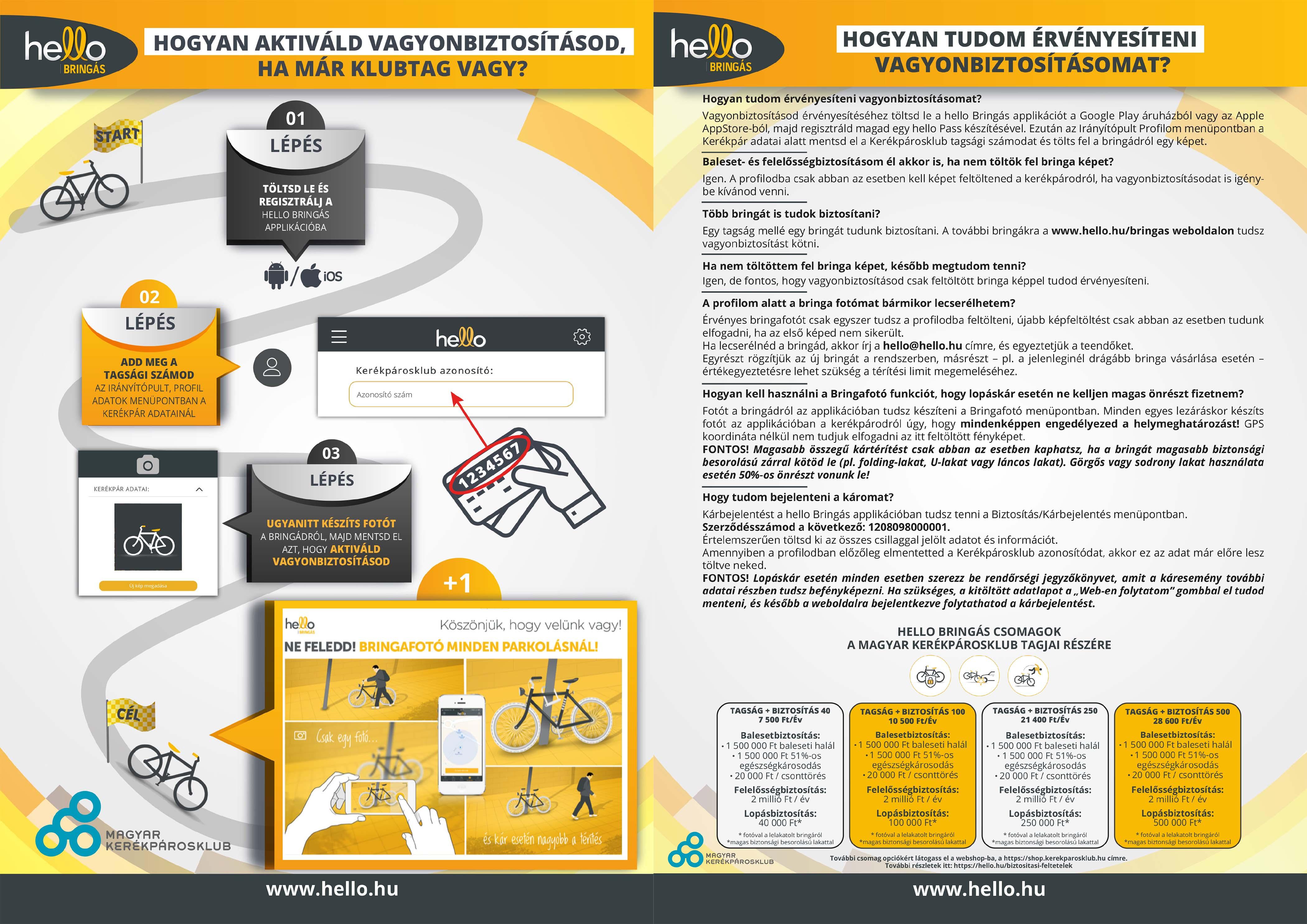 Gyakran Ismételt Kérdések (GY.I.K.) a kerékpáros biztosítással kapcsolatban