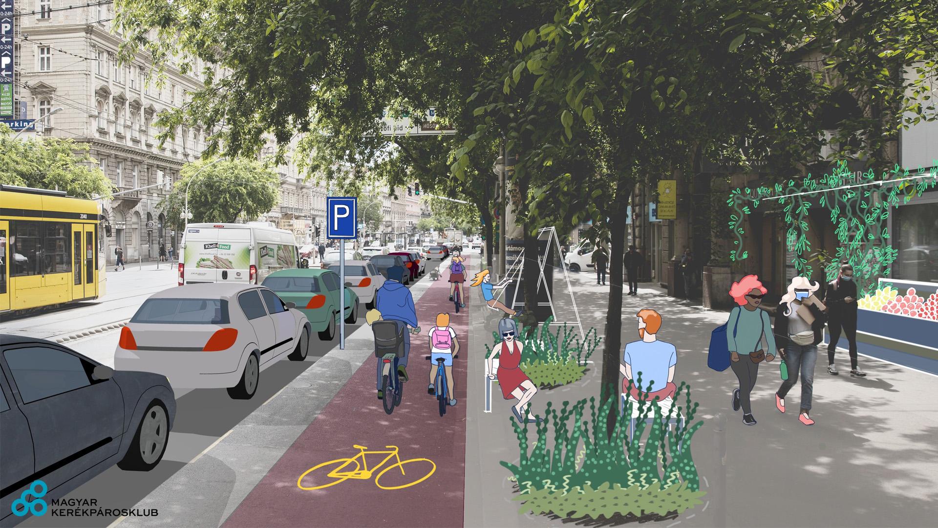 Kerékpársáv nélkül nem újulhat meg a Nagykörút – de milyen legyen?