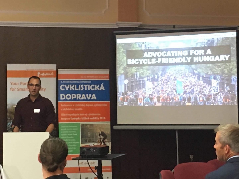 A Kerékpárosklub működését mutattuk be szlovák bringás szervezeteknek