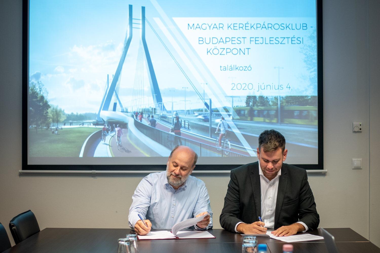 Együttműködési megállapodást kötött a Budapest Fejlesztési Központ és a Magyar Kerékpárosklub