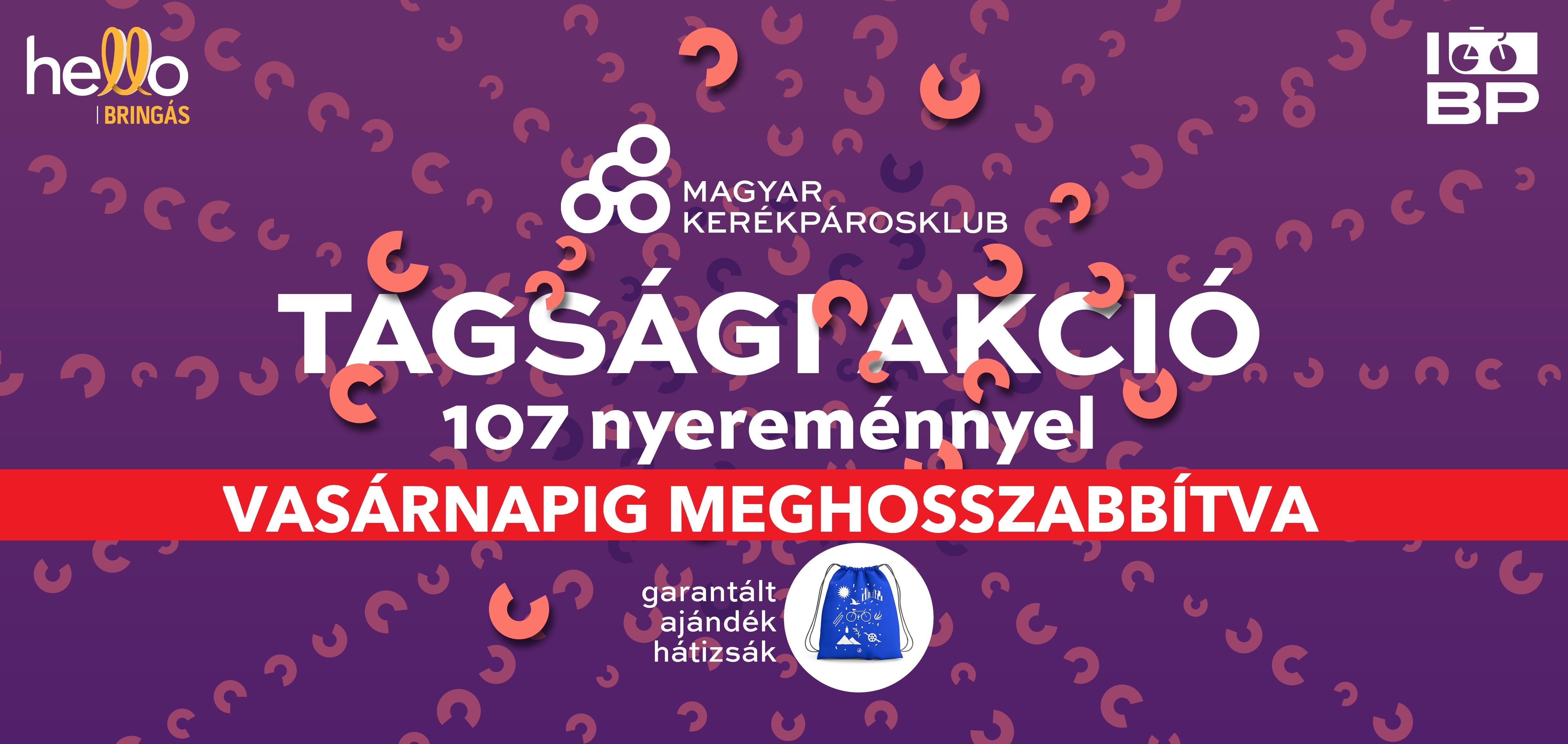 Maradjunk együtt! 107 nyereménnyel, garantált ajándék táskával és megújult felülettel vár a tagsági akciónk
