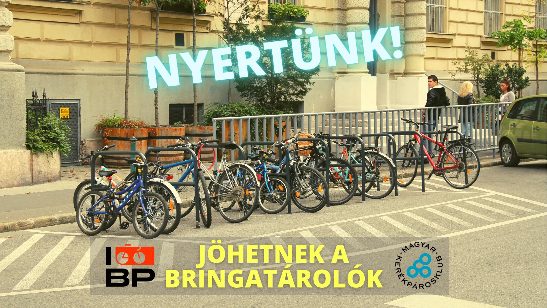 Köszönjük a szavazatokat, nyert a bringatároló-építési kezdeményezésünk!