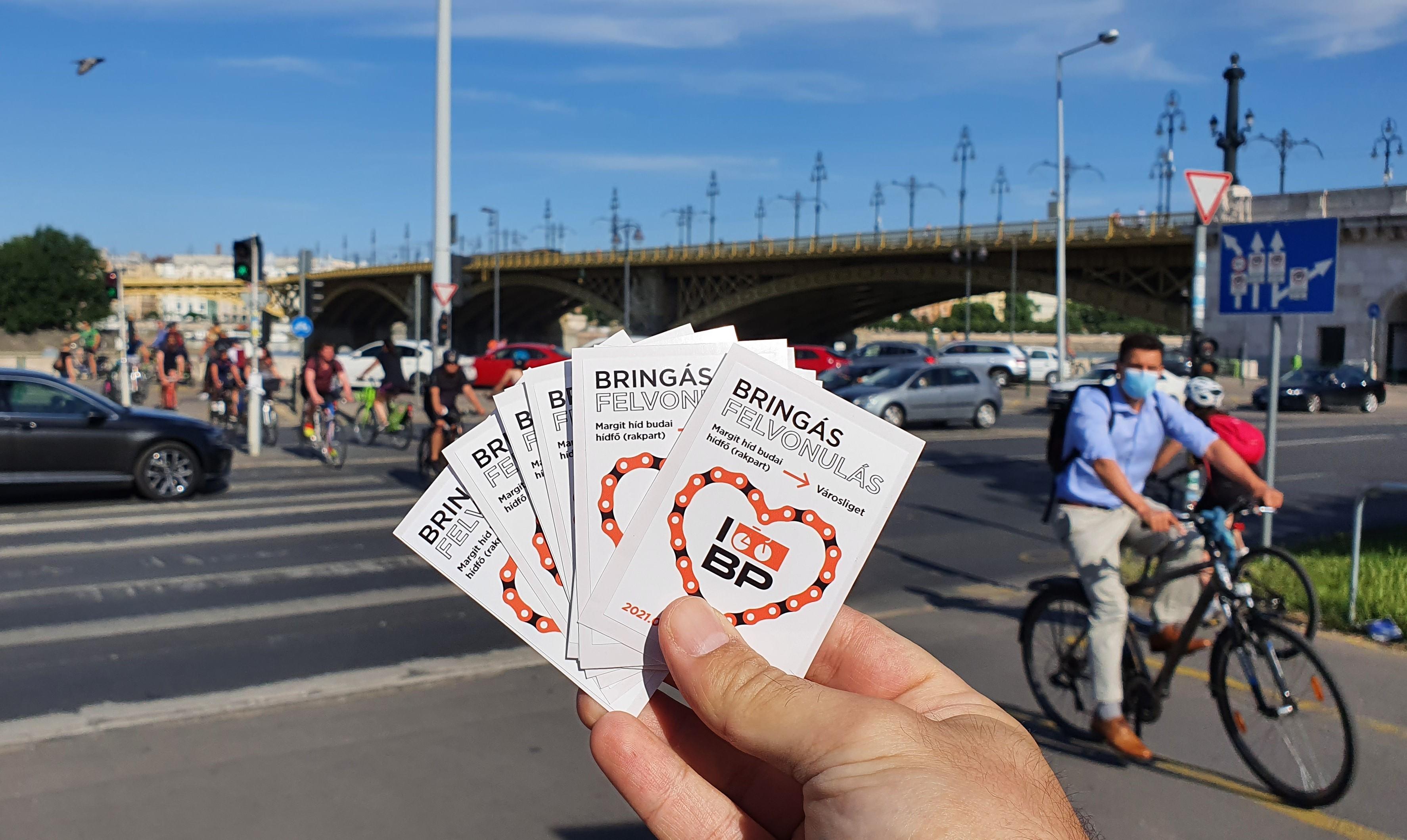 I bike Budapest matricaosztás - terjeszd velünk a felvonulás hírét!